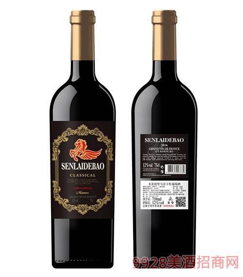 圣莱德堡马首干红葡萄酒12度750ml