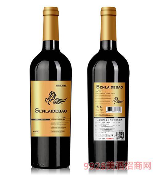 圣�R德堡金�R首干�t葡萄酒13度750ml