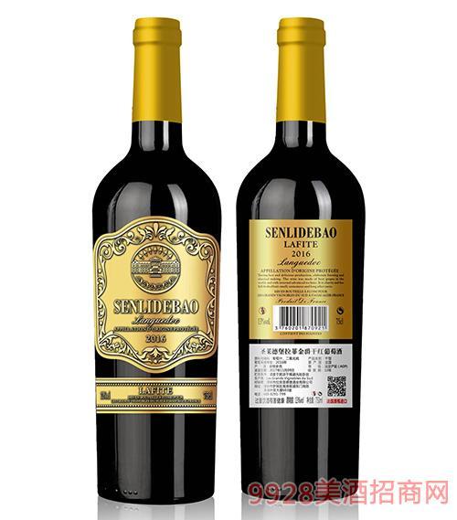 圣莱德堡拉菲金爵干红葡萄酒13度750ml