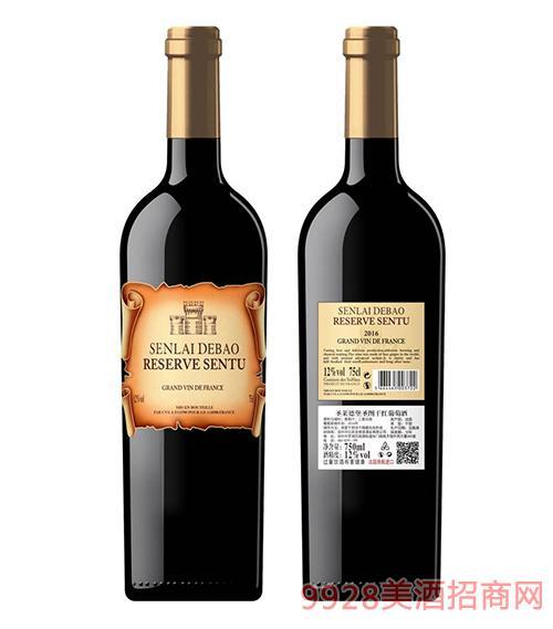 圣莱德堡圣图干红葡萄酒12度750ml