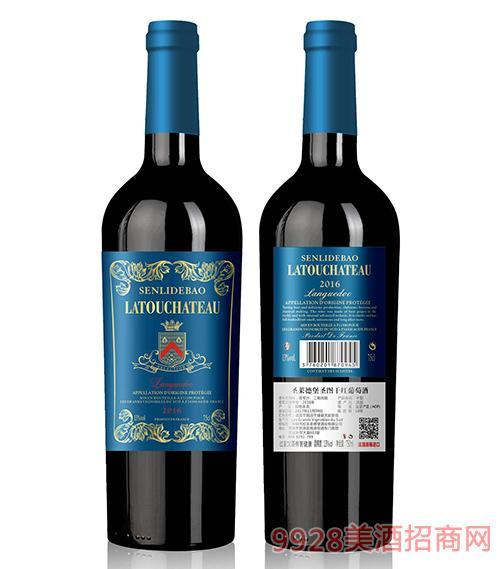 圣莱德堡圣图干红葡萄酒13度750ml