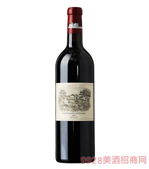 法国拉菲城堡干红葡萄酒2007-13度750ml