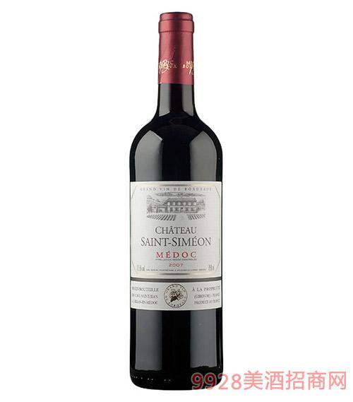 法国梅多克圣西蒙酒庄红葡萄酒12.5度750ml