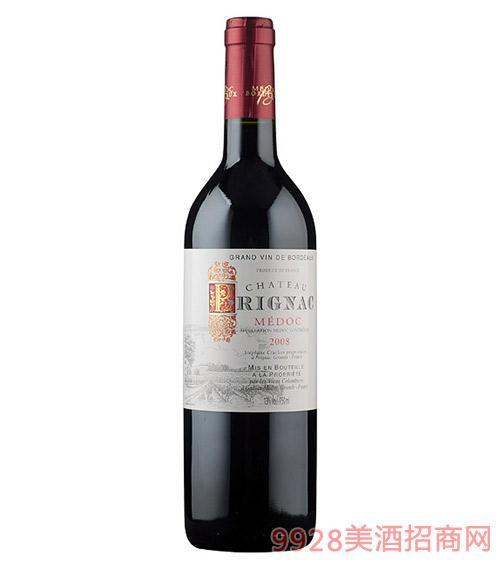 法国梅多克派克酒庄红葡萄酒13度750ml