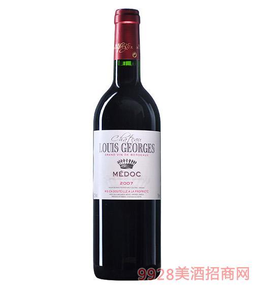 法国梅多克乔治酒庄红葡萄酒12.5度750ml