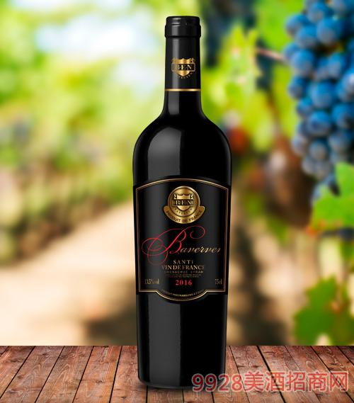 贝尔文圣蒂安干红葡萄酒13.5度750ml