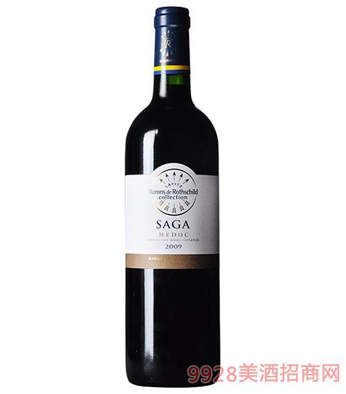 法国拉菲传说梅多克干红葡萄酒13.5度750ml