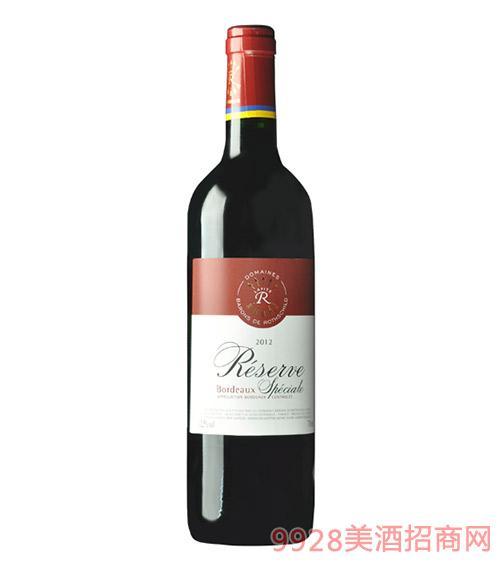 法国拉菲珍藏波尔多法定产区红葡萄酒12.5度750ml