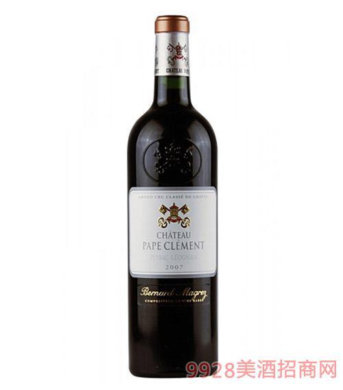 法国黑教皇城堡葡萄酒2007-13度750ml