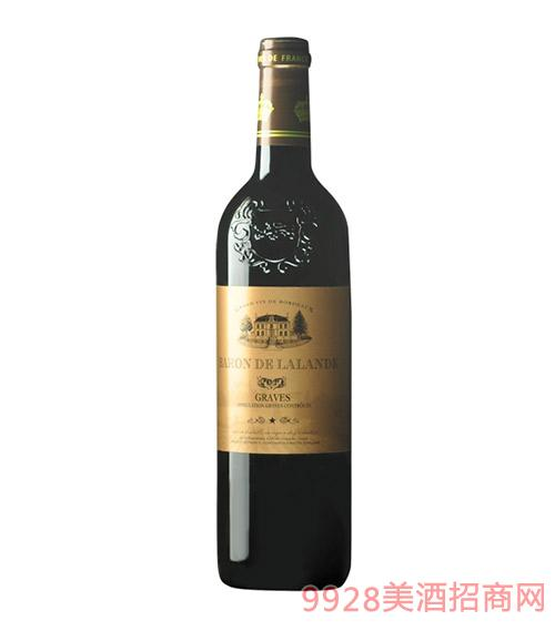 法国拉朗德男爵红葡萄酒(铜标)12.5度750ml