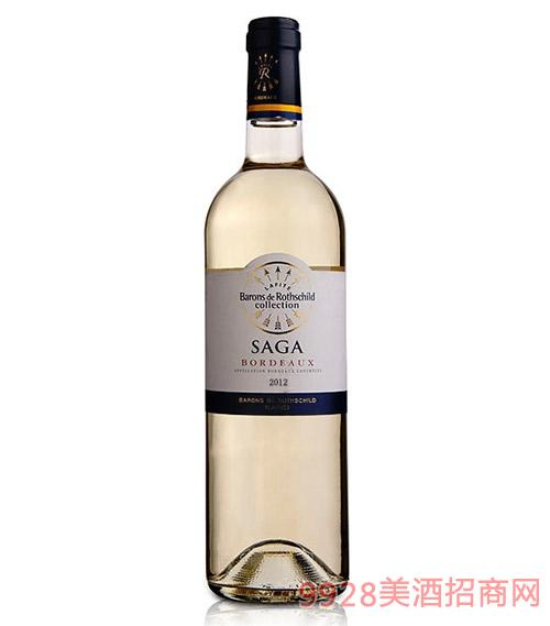 拉菲传说波尔多干白葡萄酒2012-12度750ml