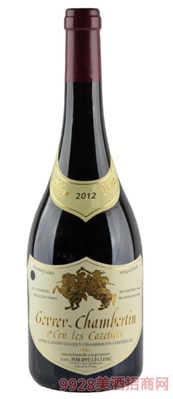 菲利普哲维瑞一级葡萄园卡兹提耶干红葡萄酒13.5度750ml