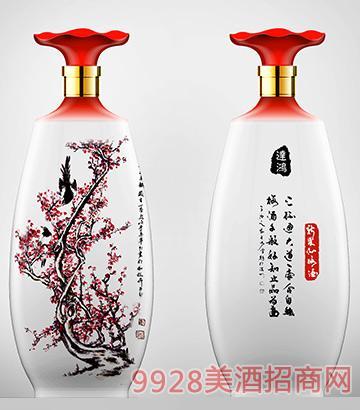 新果沁梅子酒青花500ml