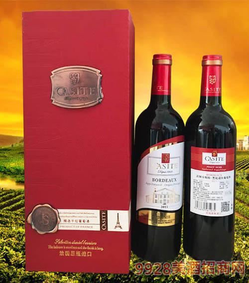 法国卡斯特·黑比诺红葡萄酒