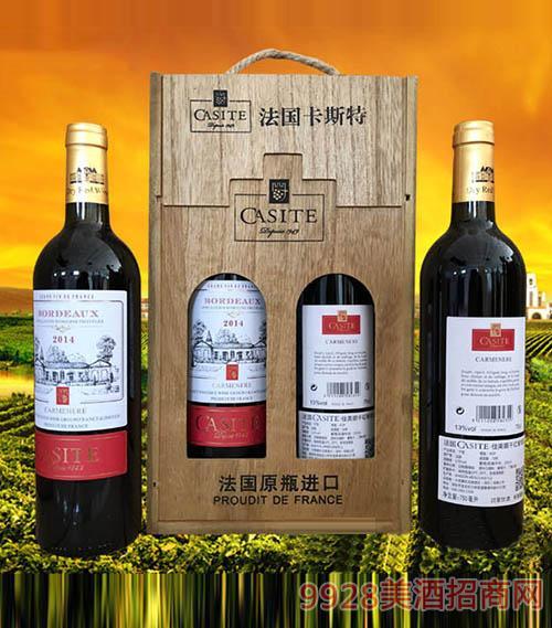 法国卡斯特·佳美娜干红葡萄酒