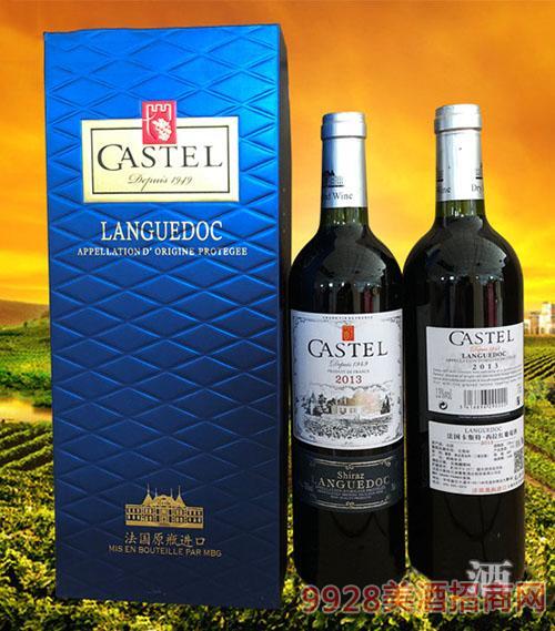 法国卡斯特·西拉红葡萄酒