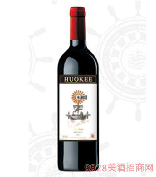 X17西班牙胡可尔美乐红葡萄酒