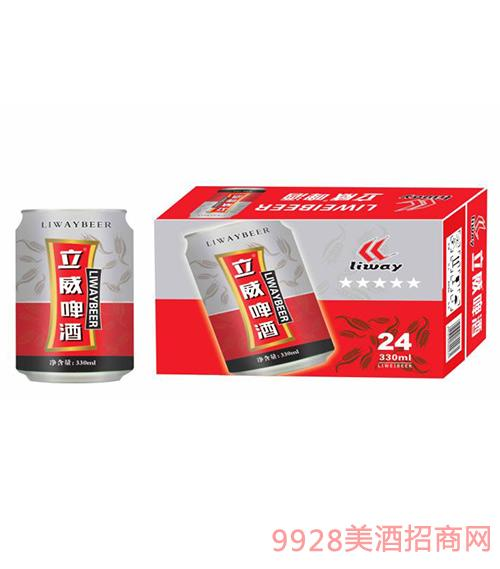 立威啤酒罐装300mlx24
