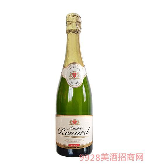 安德鲁起泡甜白葡萄酒10.5度