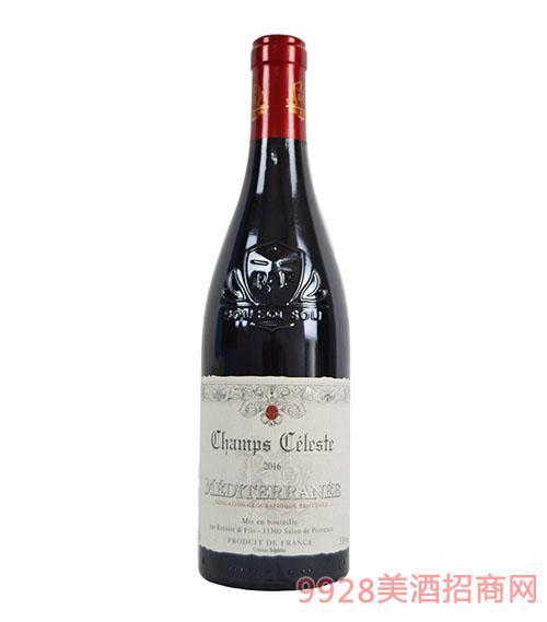 天堂小镇地中海红葡萄酒13.5度750ml