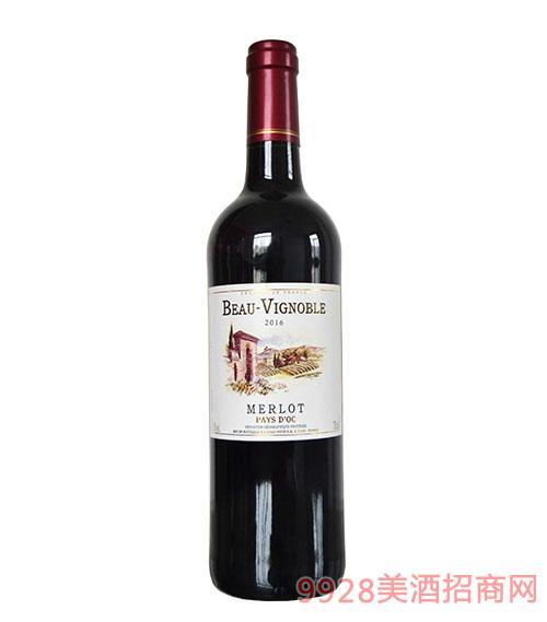 美庄红葡萄酒13度750ml