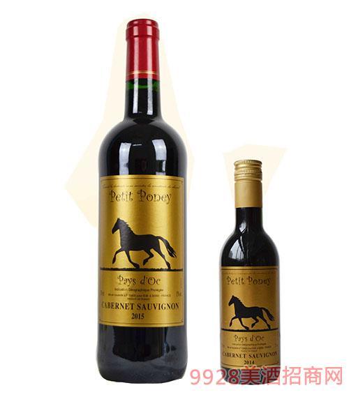 小马堡赤霞珠红葡萄酒13度