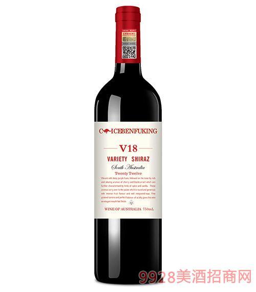 克里斯奔富酒王V18干红葡萄酒14.5度750ml
