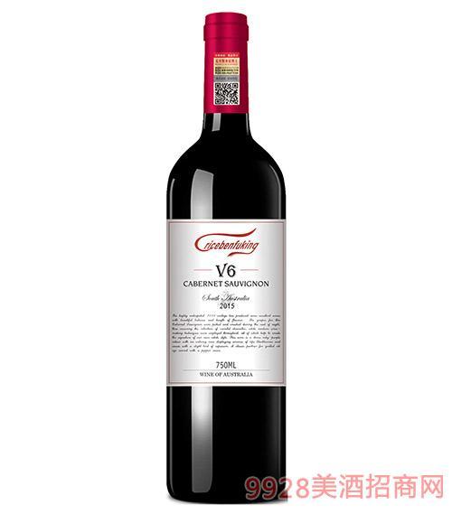 克里斯奔富酒王V6干红葡萄酒14度750ml