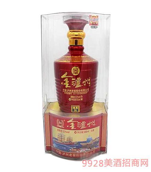金泸州酒绵柔8-52度500ml