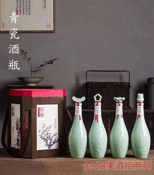 梅兰竹菊酒(青瓶)礼盒