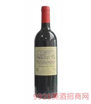 法国卡莱斯城堡(蓝标)干红葡萄酒13度750ml