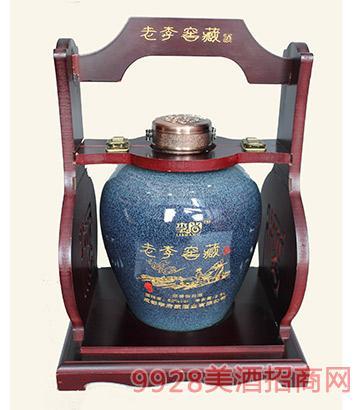 老李窖藏酒浓香八年限量坛子酒52度2.5L
