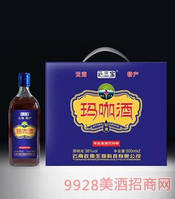 云三宝玛咖酒礼盒38度500mlX2
