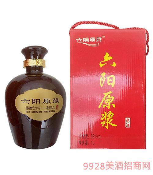六阳原浆酒黑色瓷坛52度1升(枣酒1年)