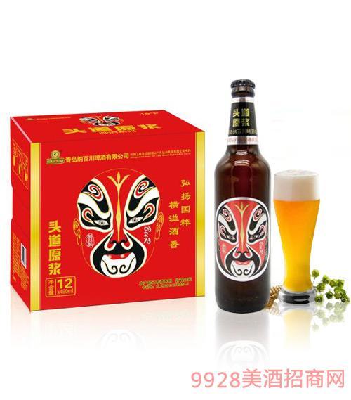 015.脸谱醉红颜原浆啤酒500ml*24