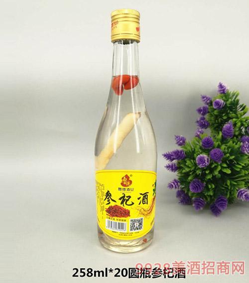 圆瓶参杞酒258mlx20