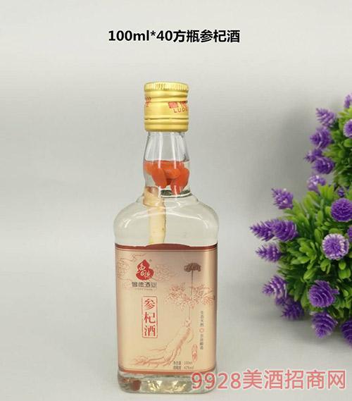 方瓶参杞酒100mlx40