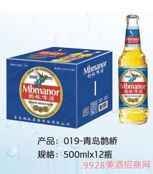 青岛鹊桥啤酒500mlx12