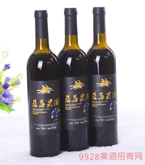 马背天骄野生蓝莓果酒8度750ml