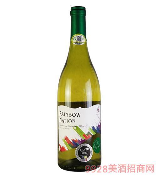 艾隆堡彩虹之国霞多丽长相思有机干白葡萄酒