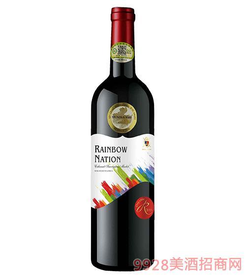 艾隆堡彩虹之国赤霞珠美乐有机干红葡萄酒