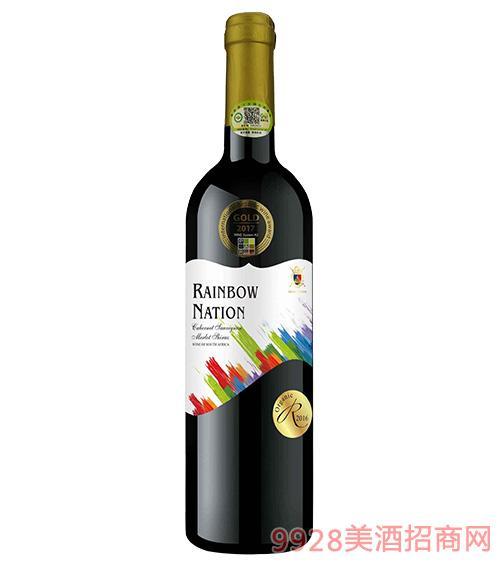 艾隆堡彩虹之国赤霞珠美乐西拉有机干红葡萄酒