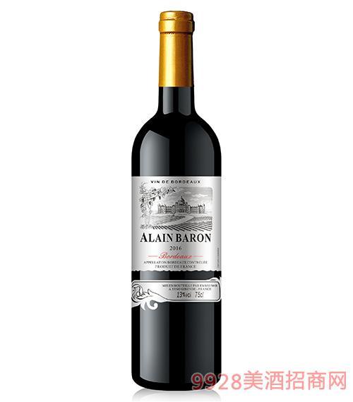 阿兰男爵银樽干红葡萄酒