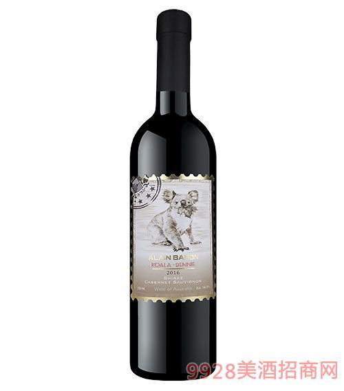艾隆堡澳洲考拉西拉子赤霞珠干红葡萄酒