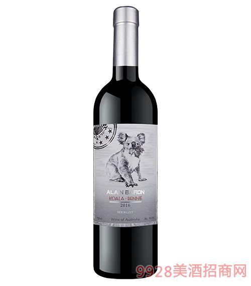 艾隆堡澳洲考拉美乐干红葡萄酒