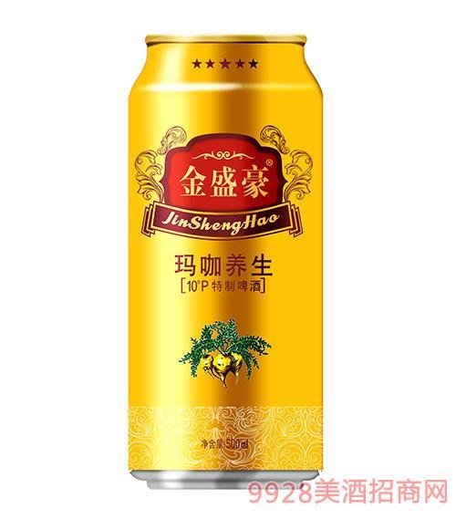 金盛豪玛咖养生10°P特制啤酒500ml