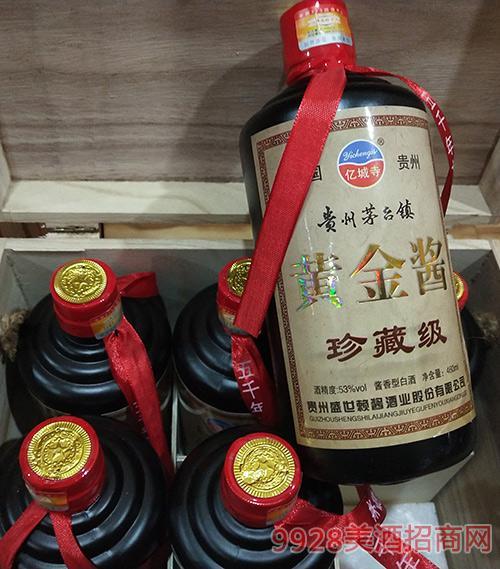 黄金酱酒珍藏级53度450mlx6