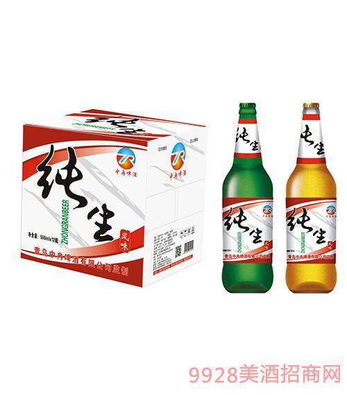 中冉纯生风味啤酒500mlx12