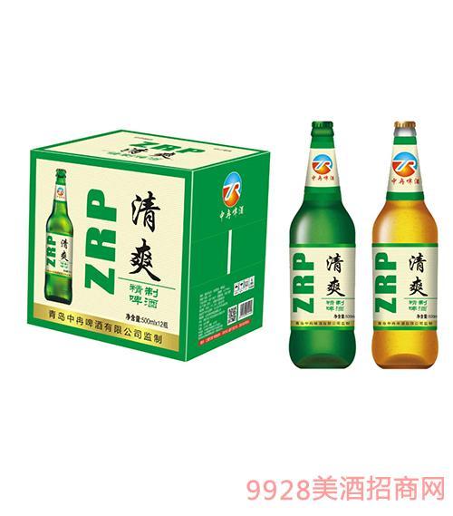 中冉清爽精制啤酒500ml