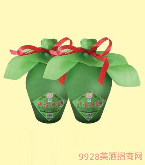 北京老酒磨砂瓶酒42度500ml